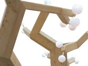 »Mathematischer Baum« Lichtskulptur